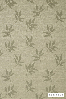 Pegasus Leaf Fall - Reflect  | Curtain Fabric - White, Deco, Decorative, Floral, Garden, Midcentury, Natural Fibre, Transitional, Washable, Domestic Use, Dry Clean, Natural