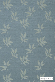 Pegasus Leaf Fall - Spray  | Curtain Fabric - Blue, Deco, Decorative, Floral, Garden, Midcentury, Natural Fibre, Transitional, Washable, Domestic Use, Dry Clean, Natural
