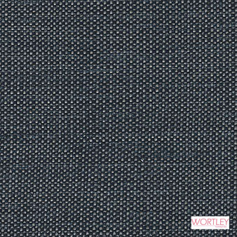 Wortley Group Shannon Indigo  | Upholstery Fabric - Blue, Plain, Synthetic, Commercial Use, Domestic Use, Standard Width