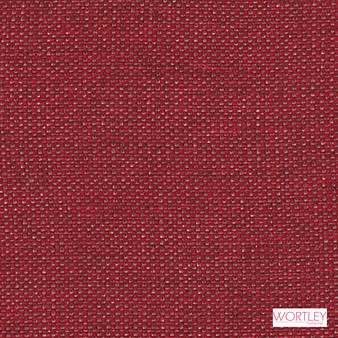 Wortley Group Shannon Rouge  | Upholstery Fabric - Plain, Red, Synthetic, Commercial Use, Domestic Use, Standard Width