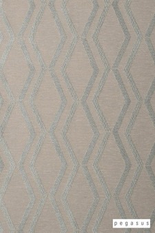Pegasus Arris - Celadon  | Curtain Fabric - Brown, Geometric, Midcentury, Natural Fibre, Transitional, Washable, Chevron, Zig Zag, Domestic Use, Dry Clean, Natural