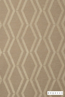 Pegasus Arris - Husk  | Curtain Fabric - Brown, Geometric, Midcentury, Natural Fibre, Transitional, Washable, Chevron, Zig Zag, Domestic Use, Dry Clean, Natural