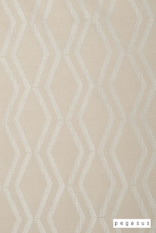 Pegasus Arris - Lace  | Curtain Fabric - White, Geometric, Midcentury, Natural Fibre, Transitional, Washable, Chevron, Zig Zag, Domestic Use, Dry Clean, Natural, White
