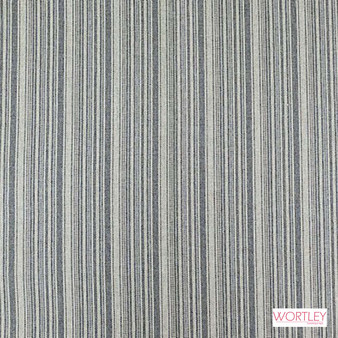 Wortley Group Westbury Cadet  | Upholstery Fabric - Blue, Grey, Stripe, Traditional, Transitional, Standard Width