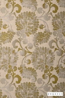 Pegasus Latvia - Citron  | Curtain Fabric - Gold,  Yellow, Craftsman, Damask, Deco, Decorative, Eclectic, Floral, Garden, Jacobean, Natural Fibre, Paisley, Traditional