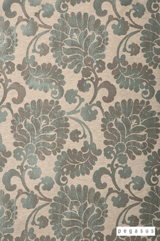 Pegasus Latvia - Glade  | Curtain Fabric - Brown, Grey, Craftsman, Damask, Deco, Decorative, Eclectic, Floral, Garden, Jacobean, Natural Fibre, Paisley, Traditional, Washable