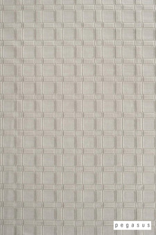 Pegasus Lyon - Pearl  | - Grey, Check, Geometric, Industrial, Midcentury, Natural Fibre, Washable, Domestic Use, Dry Clean, Natural, Top of Bed, Wide Width