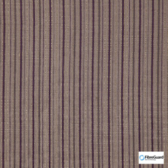 Fibreguard - Oviedo Vineyard  | Upholstery Fabric - Brown, Fire Retardant, Plain, Stripe, Synthetic, Chenille, Commercial Use, Domestic Use, Railroaded, Standard Width