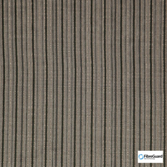 Fibreguard - Oviedo Fog  | Upholstery Fabric - Brown, Fire Retardant, Plain, Stripe, Synthetic, Chenille, Commercial Use, Domestic Use, Railroaded, Standard Width