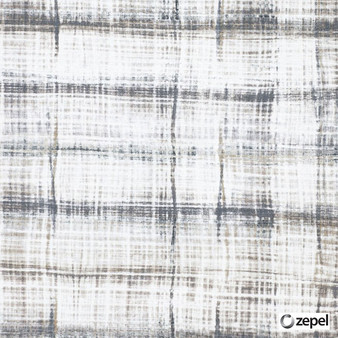 Zepel Fabrics - Pavada Print Taupe    Curtain & Upholstery fabric - Grey, Check, Natural Fibre, Commercial Use, Domestic Use, Natural, Oeko-Tex,  Standard Width
