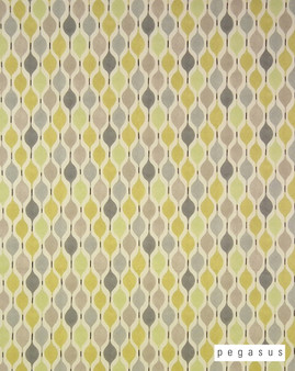 Pegasus Verve - Mimosa  | Curtain Fabric - Gold,  Yellow, Geometric, Midcentury, Natural Fibre, Ogee, Small Scale, Domestic Use, Dry Clean, Natural, Top of Bed, Retro