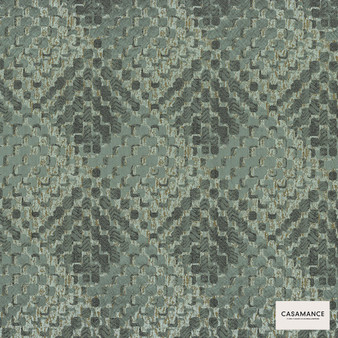 Casamance Fabrics & Wallpapers - Lou Lou 3920 05 10  | Curtain & Upholstery fabric - Green, Contemporary, Diamond, Harlequin, Jacquards, Geometric