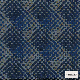 Casamance Fabrics & Wallpapers - Lou Lou 3920 07 32  | Curtain & Upholstery fabric - Blue, Contemporary, Diamond, Harlequin, Jacquards, Geometric