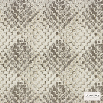 Casamance Fabrics & Wallpapers - Lou Lou 3920 02 78  | Curtain & Upholstery fabric - Beige, Contemporary, Diamond, Harlequin, Jacquards, Geometric