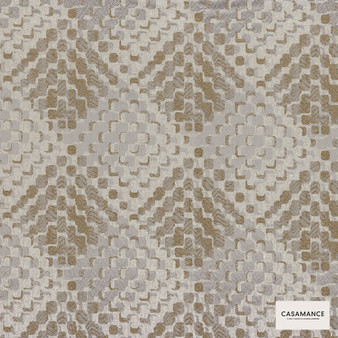 Casamance Fabrics & Wallpapers - Lou Lou 3920 03 43  | Curtain & Upholstery fabric - Brown, Contemporary, Diamond, Harlequin, Jacquards, Geometric