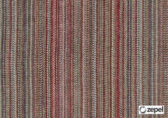 Zepel Fabrics - Pueblo Chilli  | Upholstery Fabric - Green, Red, Stripe, Railroaded, Oeko-Tex, Strie, Standard Width