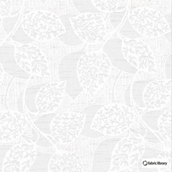Fabric Library - Mask Snow  | Curtain & Upholstery fabric - Floral, Garden, Botantical, Whites, Natural, Natural Fibre, Standard Width