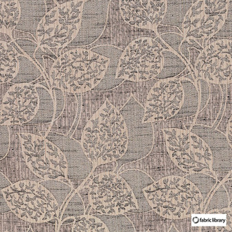 Fabric Library - Mask Beluga  | Curtain & Upholstery fabric - Brown, Floral, Garden, Botantical, Natural, Natural Fibre, Standard Width