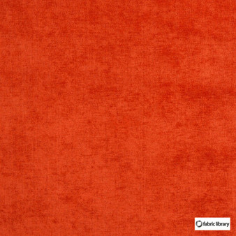 Fabric Library - Restful Paprika    Upholstery Fabric - Orange, Water Repellent, Plain, Standard Width
