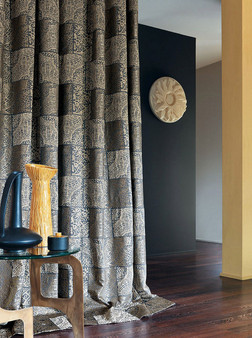 Casamance Fabrics & Wallpapers - Pailo 3389 01 55  | Curtain & Upholstery fabric - Fibre Blends, Stripe, Commercial Use, Domestic Use, Standard Width
