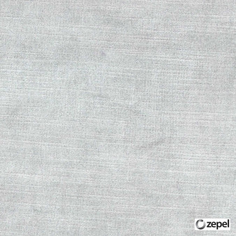 Zepel Fabrics - St Moritz Silver  | Curtain & Upholstery fabric - Oeko-Tex, Whites, Plain, Standard Width