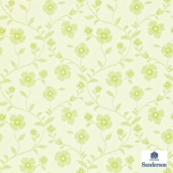 Sanderson Sabine 212004  | Wallpaper, Wallcovering - Fire Retardant, Green, Floral, Garden, Botantical, Farmhouse