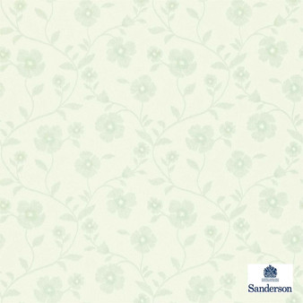 Sanderson Sabine 212006  | Wallpaper, Wallcovering - Fire Retardant, Beige, Green, Floral, Garden, Botantical, Farmhouse