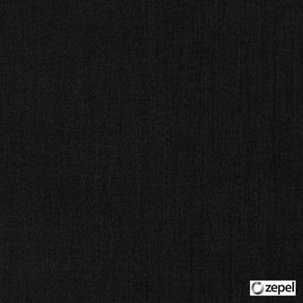 Zepel - Cushy Raven  | Curtain & Upholstery fabric - Black, Charcoal, Oeko-Tex, Plain, Standard Width