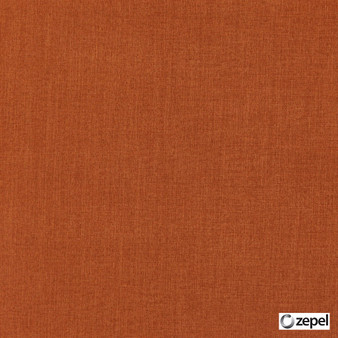 Zepel Fabrics - Cushy Ginger  | Curtain & Upholstery fabric - Orange, Oeko-Tex, Plain, Standard Width