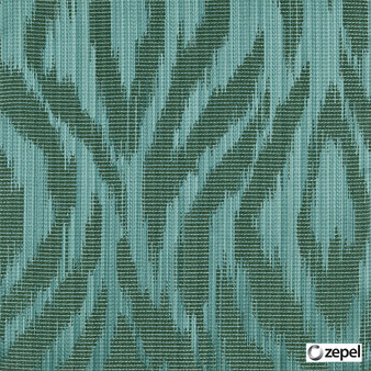 Zepel Fabrics - Abstract Dragonfly  | Curtain & Upholstery fabric - Green, Oeko-Tex, Abstract, Ogee, Fibre Blend, Standard Width