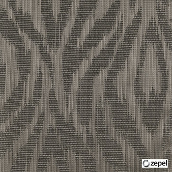 Zepel Fabrics - Abstract Chestnut  | Curtain & Upholstery fabric - Brown, Oeko-Tex, Abstract, Ogee, Fibre Blend, Standard Width