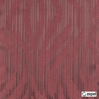 Zepel Fabrics - Abstract Cerise  | Curtain & Upholstery fabric - Red, Oeko-Tex, Abstract, Ogee, Fibre Blend, Standard Width