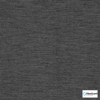 Fibreguard - Bravo Charcoal  | Upholstery Fabric - Plain, Black - Charcoal, Synthetic, Commercial Use, Standard Width