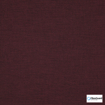 Fibreguard - Bravo Beaujolais  | Upholstery Fabric - Burgundy, Plain, Pink, Purple, Synthetic, Commercial Use, Standard Width