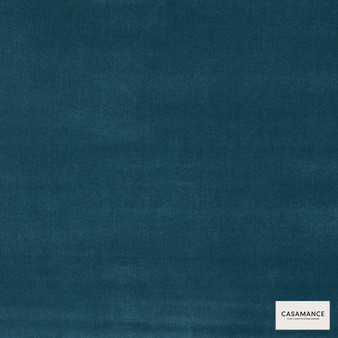 Casamance Fabrics & Wallpapers - Boston Ii A501 21 19  | Curtain & Upholstery fabric - Blue, Plain, Natural Fibre, Commercial Use, Natural, Standard Width