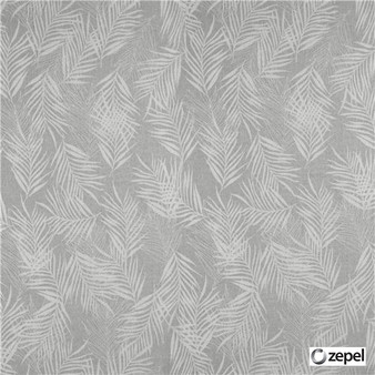 Zepel Fabrics - Banyan Mist  | Curtain & Upholstery fabric - Grey, Floral, Garden, Synthetic, Commercial Use, Domestic Use, Oeko-Tex,  Standard Width, Feathers