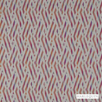 Harlequin Makena 131281  | Upholstery Fabric - Fire Retardant, Red, Eclectic, Geometric, Harlequin, Stripe, Synthetic, Abstract, Domestic Use, Standard Width