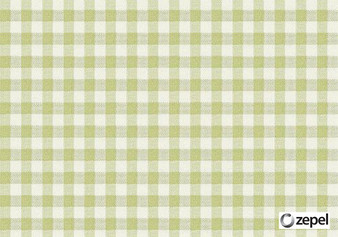 Zepel Fabrics - Playground Moss  | Curtain & Upholstery fabric - Check, Fibre Blends, Gingham, Commercial Use, Domestic Use, Oeko-Tex,  Standard Width