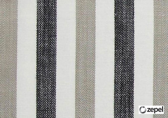 Zepel Fabrics - Playground Natural  | Curtain & Upholstery fabric - Black - Charcoal, Fibre Blends, Stripe, Commercial Use, Domestic Use, Oeko-Tex,  Standard Width