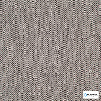 Fibreguard - Iconji Liquorice  | Upholstery Fabric - Brown, Fire Retardant, Plain, Synthetic, Chevron, Zig Zag, Commercial Use, Oeko-Tex,  Standard Width