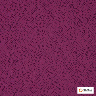 Fr One Fabrics - Ghibli Fr Crocus  | Curtain & Upholstery fabric - Fire Retardant, Pink, Purple, Synthetic, Commercial Use, Domestic Use, Jacquards, Oeko-Tex, Standard Width