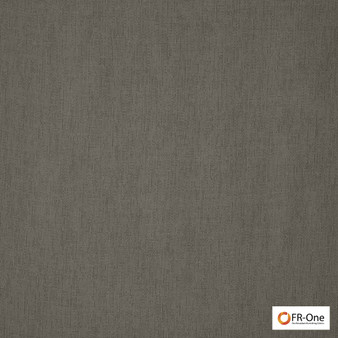 Fr One Fabrics - Girsu Fr Mushroom  | Curtain & Upholstery fabric - Fire Retardant, Plain, Black - Charcoal, Synthetic, Commercial Use, Domestic Use, Oeko-Tex, Wide Width