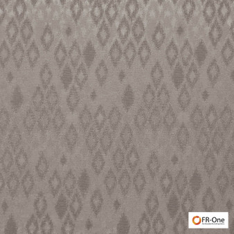 Fr One Fabrics - Ganymede Fr Mushroom  | Curtain & Upholstery fabric - Brown, Fire Retardant, Synthetic, Commercial Use, Diamond - Harlequin, Domestic Use, Oeko-Tex