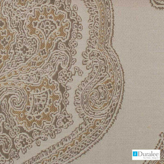 Duralee - 15574-62 - Antique Gold  | Upholstery Fabric - Brown, Fire Retardant, Teflon, Fibre Blends, Paisley, Dry Clean, Standard Width