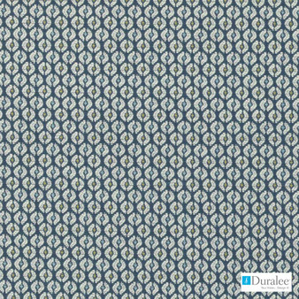 Duralee - 15624-72 - Blue/Green  | Upholstery Fabric - Blue, Fibre Blends, Small Scale, Dry Clean, Standard Width