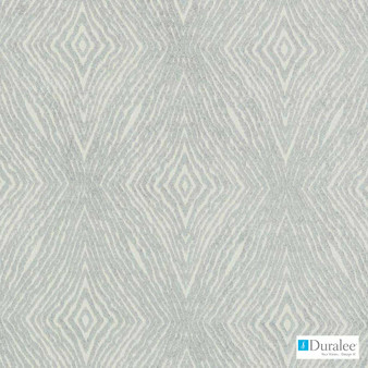 Duralee - 15660-433 - Mineral  | Upholstery Fabric - Fire Retardant, Ikat, Synthetic, Chenille, Diamond - Harlequin, Dry Clean, Standard Width