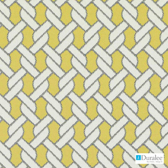 Duralee - 15700-632 - Mate - Sunflower  | Upholstery Fabric - Washable, Gold, Yellow, Outdoor Use, Stain Repellent, Lattice, Trellis, Nautical
