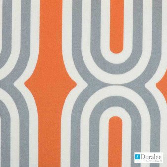 Duralee - 21070-356 - Adobe  | Curtain Fabric - Fire Retardant, Geometric, Midcentury, Outdoor Use, Synthetic, Standard Width