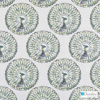 Duralee - 21082-343 - Cactus  | Curtain & Upholstery fabric - Linen and Linen Look, Natural Fibre, Animals, Animals - Fauna, Dry Clean, Natural, Standard Width, Birds