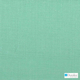 Duralee - 32576-260 - Aquamarine  | Curtain & Upholstery fabric - Plain, Linen and Linen Look, Natural Fibre, Dry Clean, Natural, Standard Width